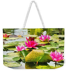 Water Lilies Weekender Tote Bag by Maciek Froncisz