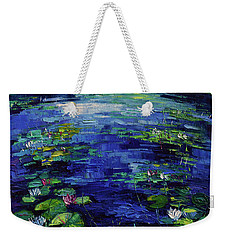 Water Lilies Magic Weekender Tote Bag