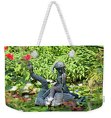 Water Lilly Pond Weekender Tote Bag