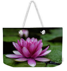 Water Lily After Rain Weekender Tote Bag