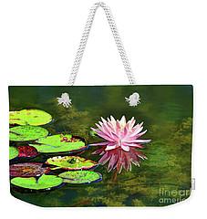 Water Lily And Frog Weekender Tote Bag by Savannah Gibbs