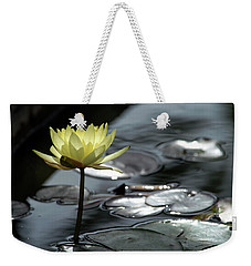 Water Lily And Silver Leaves Weekender Tote Bag