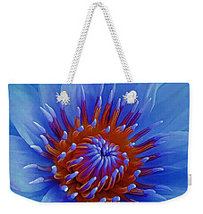 Water Lily Center Weekender Tote Bag by Pamela Walton