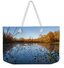 Water Lily Evening Serenade Weekender Tote Bag