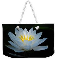 Water Lily Glow Weekender Tote Bag by Janis Knight