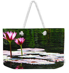 Weekender Tote Bag featuring the photograph Water Lily by Greg Patzer