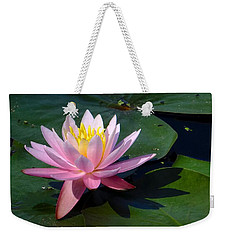 Water Lily In Mountain Lake Weekender Tote Bag