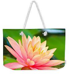 Water Lily In Pond Weekender Tote Bag