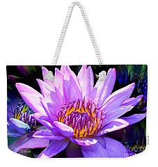 Water Lily In Purple Weekender Tote Bag by Jeannie Rhode