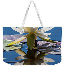 Water Lily Weekender Tote Bag by Mary Hone