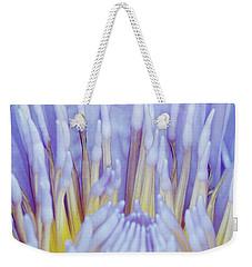 Water Lily Nature Fingers Weekender Tote Bag by Carol F Austin