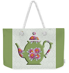 Water Lily Pattern Teapot Weekender Tote Bag