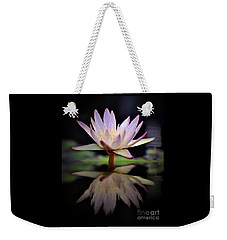 Weekender Tote Bag featuring the photograph Water Lily by Savannah Gibbs