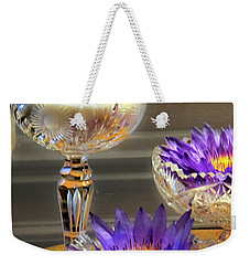 Water-lilys On Table  Weekender Tote Bag