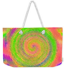 Weekender Tote Bag featuring the digital art Water Melon Whirls by Catherine Lott