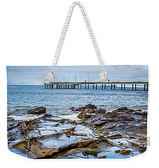 Weekender Tote Bag featuring the photograph Water Pool by Perry Webster