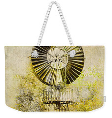 Weekender Tote Bag featuring the photograph Water-pumping Windmill by Heiko Koehrer-Wagner