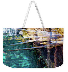 Weekender Tote Bag featuring the photograph Water Reflections by Francesca Mackenney