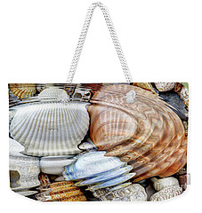 Water Ripples Over The Stone Pebbles Weekender Tote Bag by Michal Boubin