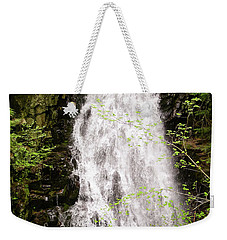 Water Roaring Down Cascade Falls, Farmington, Maine  -30377 Weekender Tote Bag