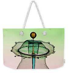 Water Sculpture In Green And Blue Colors Weekender Tote Bag