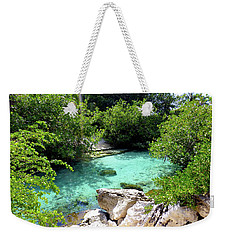 Weekender Tote Bag featuring the photograph Water Shallows by Francesca Mackenney