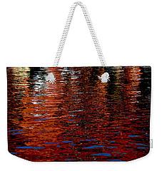 Water Show Orange Weekender Tote Bag by Jacqueline M Lewis
