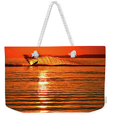 Water Skiing At Sunrise  Weekender Tote Bag
