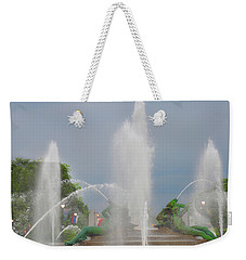 Water Spray - Swann Fountain - Philadelphia Weekender Tote Bag by Bill Cannon