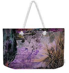 Weekender Tote Bag featuring the painting Water Sprite by Mindy Newman