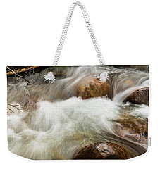 Weekender Tote Bag featuring the photograph Water Under The Bridge by Alex Lapidus