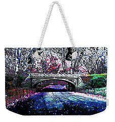Weekender Tote Bag featuring the photograph Water Under The Bridge by Iowan Stone-Flowers