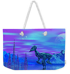 Weekender Tote Bag featuring the photograph Water Walkers by Mark Blauhoefer