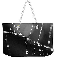 Weekender Tote Bag featuring the photograph Water Web by Darcy Michaelchuk