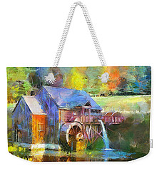 Water Wheel Cottage Weekender Tote Bag