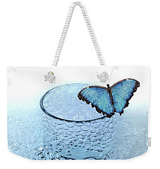 Water With Butterfly Weekender Tote Bag