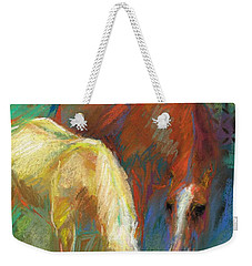 Weekender Tote Bag featuring the painting Waterbreak by Frances Marino