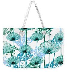 Weekender Tote Bag featuring the digital art Watercolor Dandelions by Bonnie Bruno
