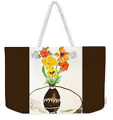 Watercolor Fall Bouquet Weekender Tote Bag