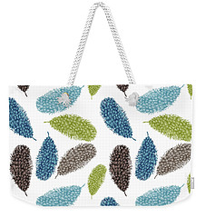 Watercolor Feathers Weekender Tote Bag