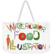 Weekender Tote Bag featuring the painting Watercolor Food Illustration  by Irina Sztukowski