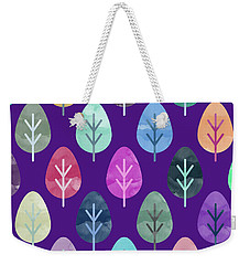 Watercolor Forest Pattern II Weekender Tote Bag