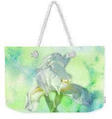 Watercolor Iris Weekender Tote Bag