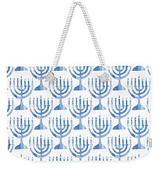 Watercolor Menorahs- Art By Linda Woods Weekender Tote Bag