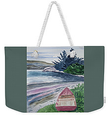 Weekender Tote Bag featuring the painting Watercolor - New Zealand Harbor by Cascade Colors