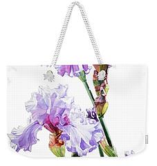 Watercolor Of A Tall Bearded Iris I Call Lilac Iris Wendi Weekender Tote Bag