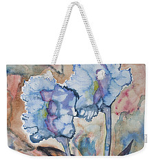 Weekender Tote Bag featuring the painting Watercolor - Orchid Impression by Cascade Colors