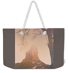 Weekender Tote Bag featuring the painting Watercolor Painting Of Mayan Temple- Tikal, Guatemala by Ryan Fox