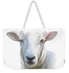 Weekender Tote Bag featuring the painting Watercolor Sheep by Ivana Westin
