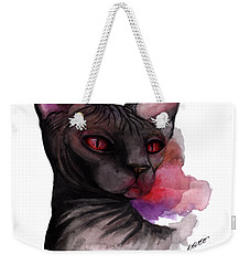 Watercolor Sphinx Weekender Tote Bag